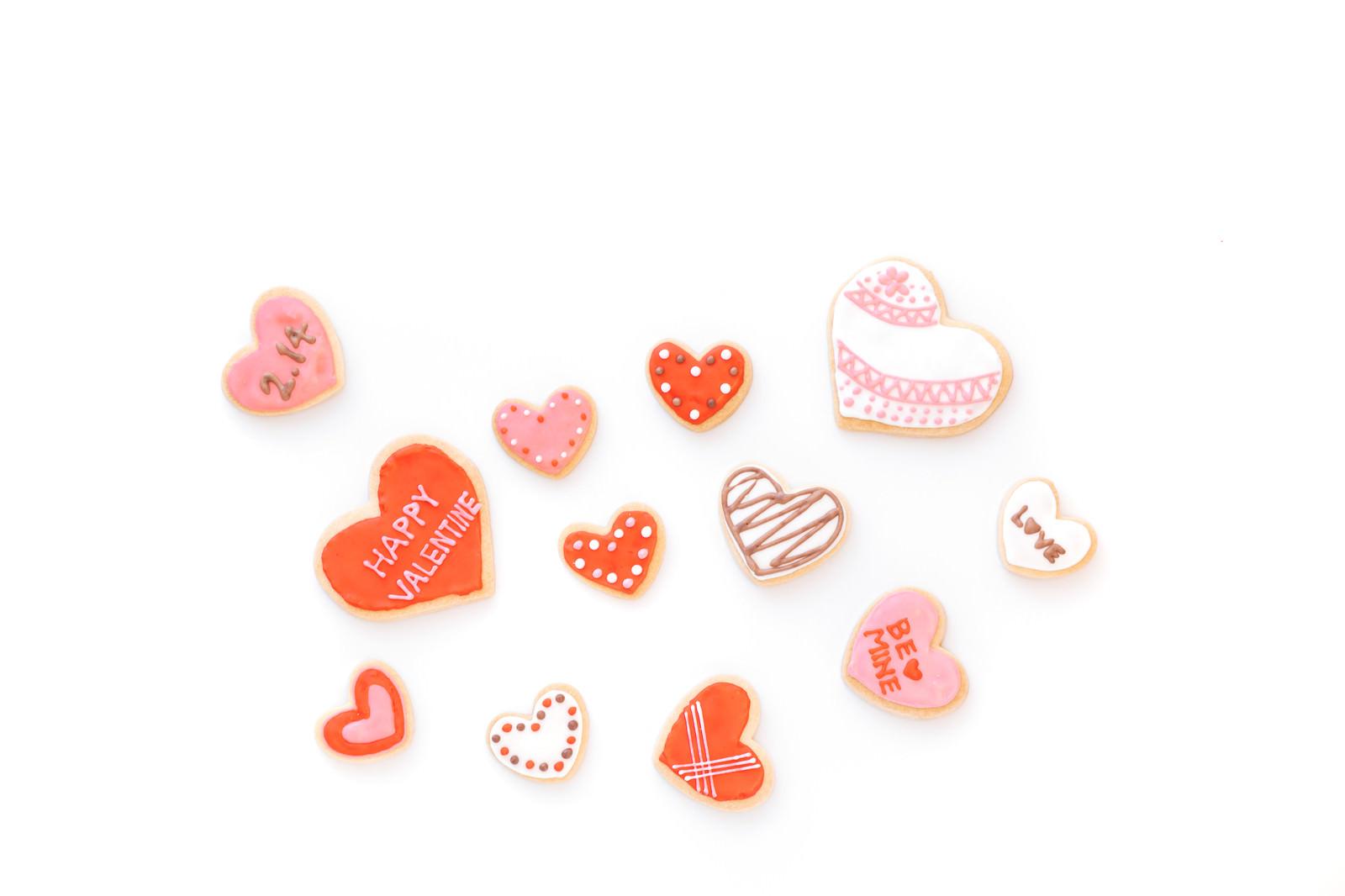 「バレンタインたくさんのハートバレンタインたくさんのハート」のフリー写真素材を拡大