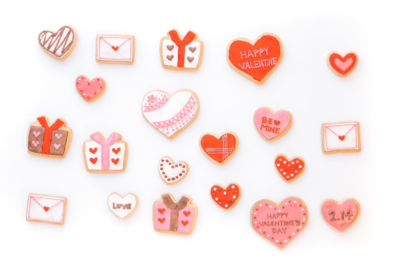 「バレンタインに使いやすいハートのクッキー」の写真