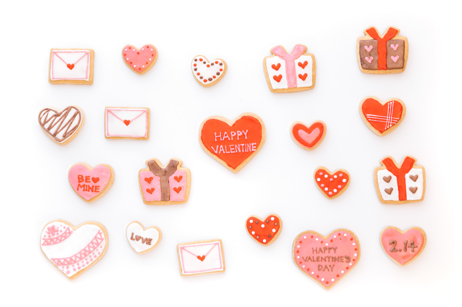 アイシングクッキー(バレンタイン)のフリー素材