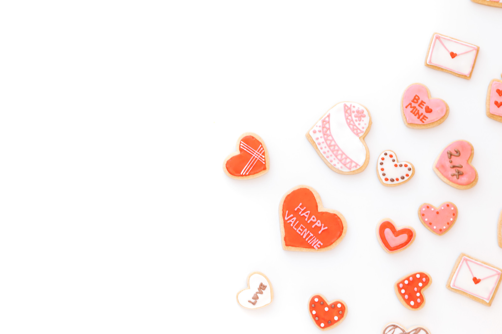 「ハートのバレンタインクッキー」の写真