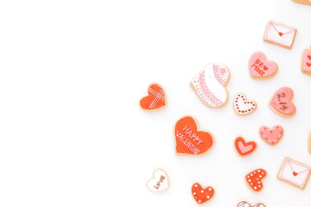 ハートのバレンタインクッキーの写真