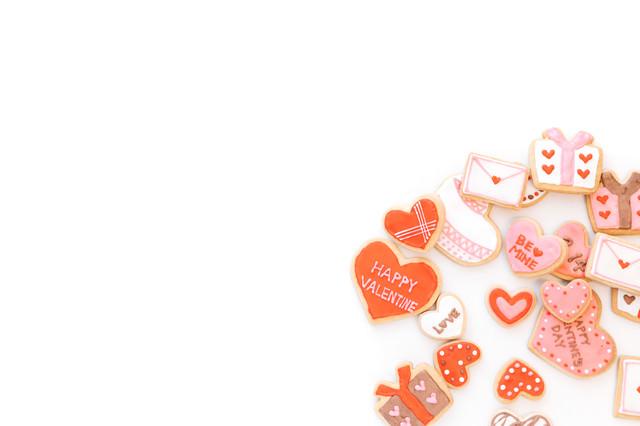 バレンタイン(アイシングクッキー)の写真