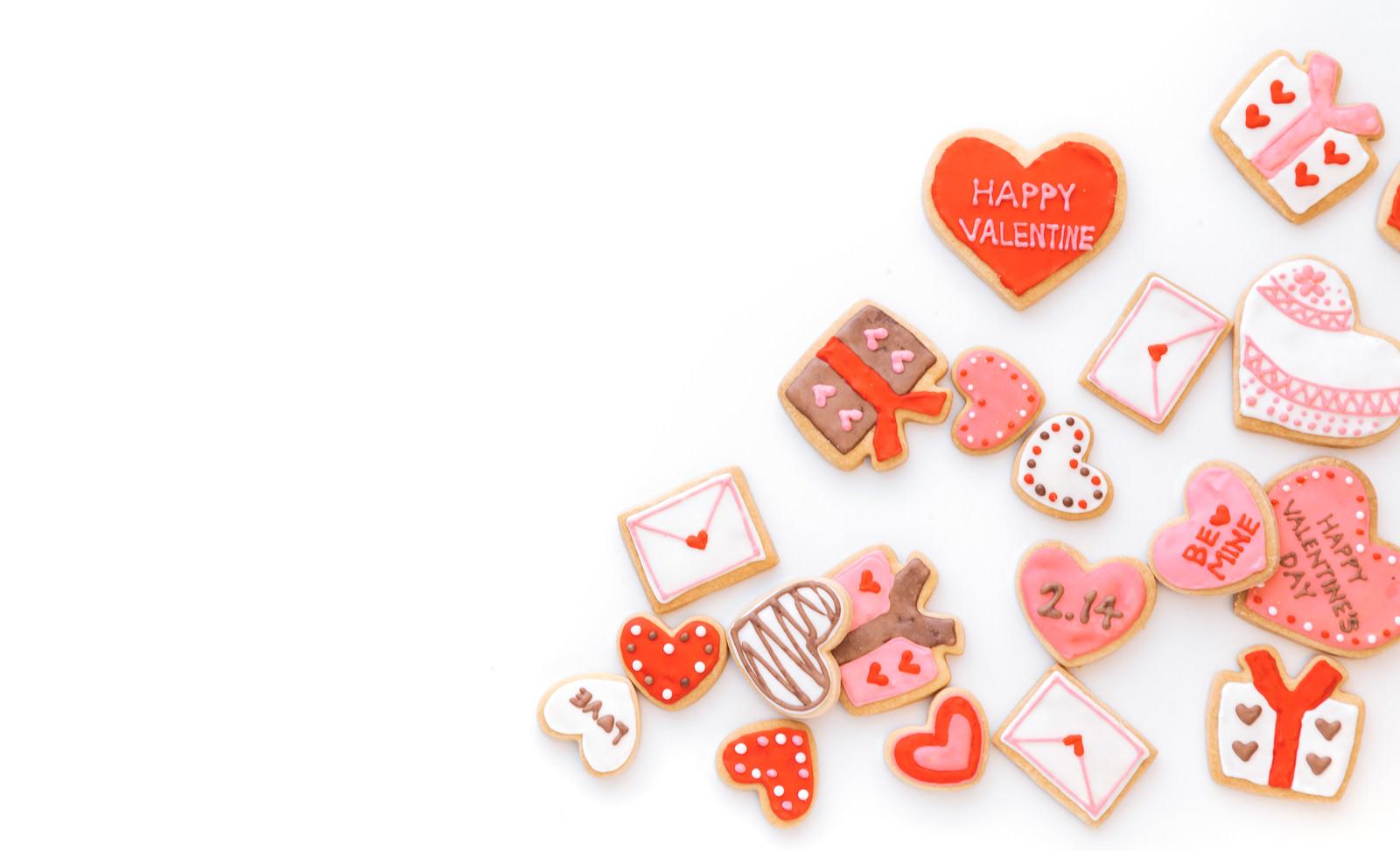 「ハートいっぱいのバレンタイン素材」の写真