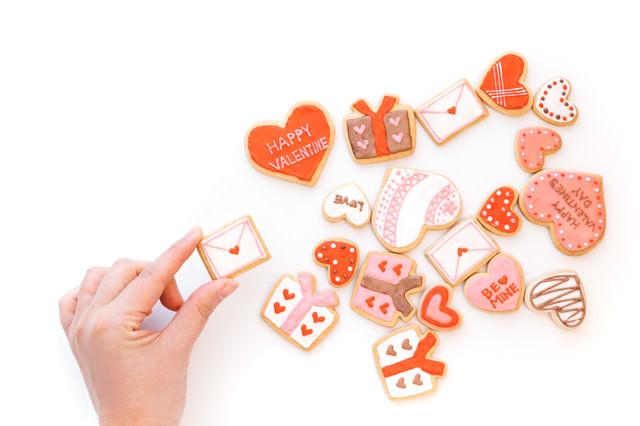 バレンタイン用のラブレタークッキーを追加の写真