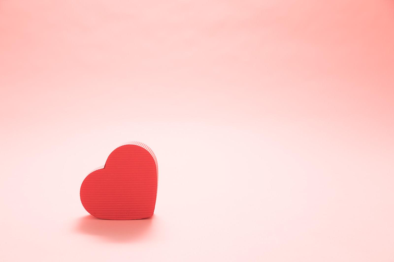 「バレンタインに使われやすいハート」の写真
