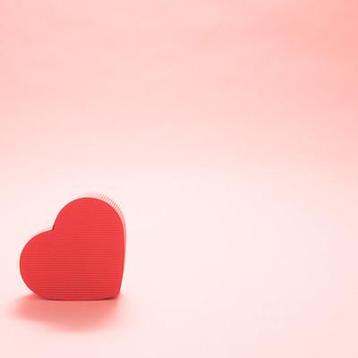 「バレンタインに使われやすいハート」の写真素材