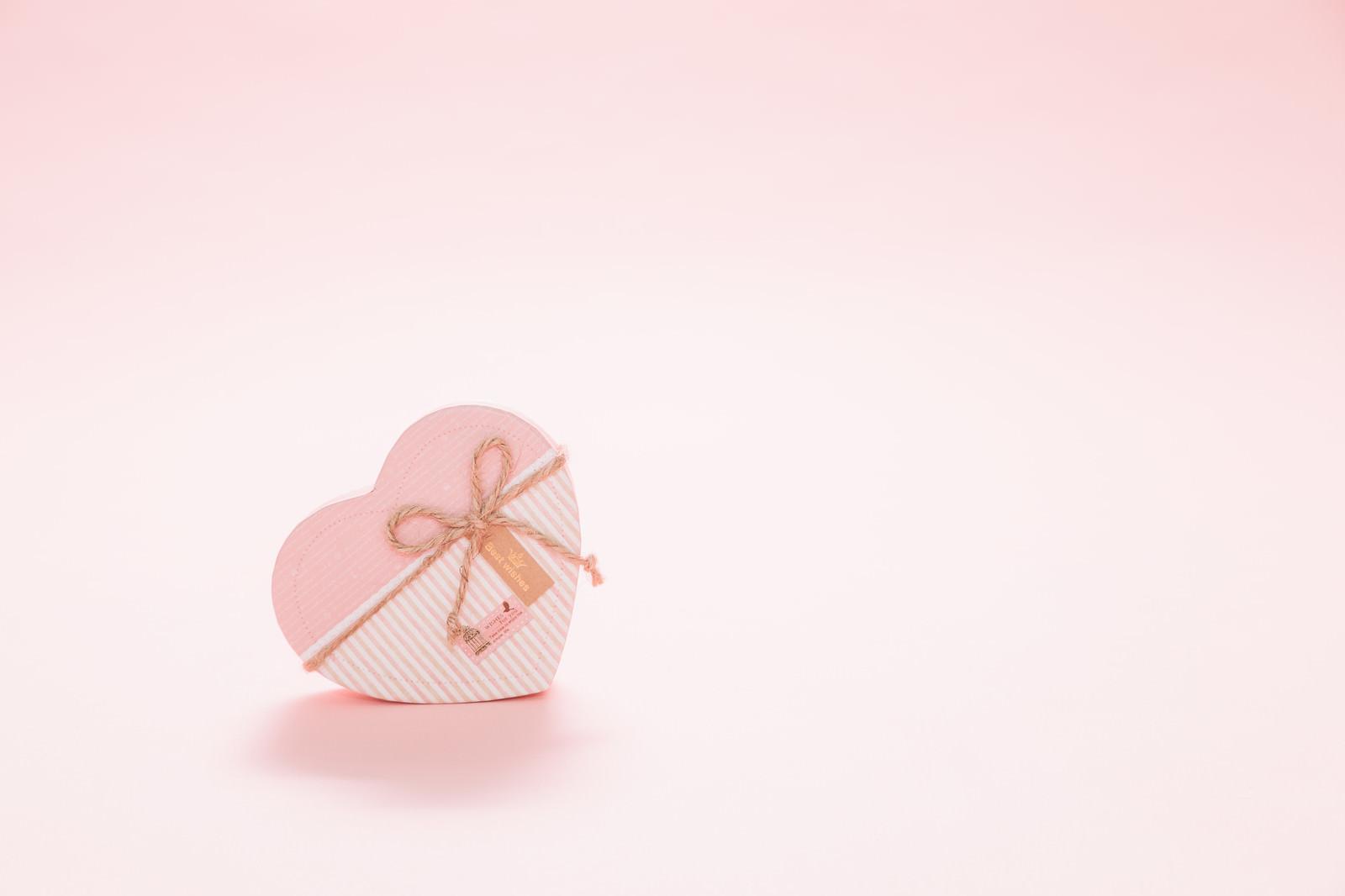 「バレンタインデーにハートのプレゼント」