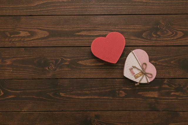 バレンタインのハートの写真
