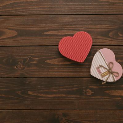 「バレンタインのハート」の写真素材