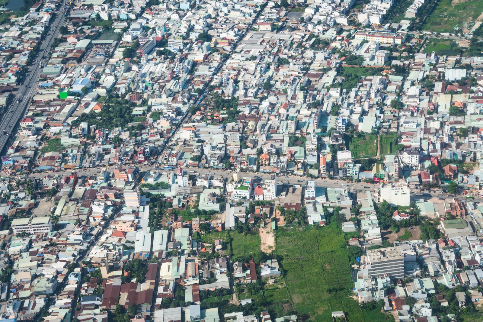 「ベトナムの市街地(上空)」の写真