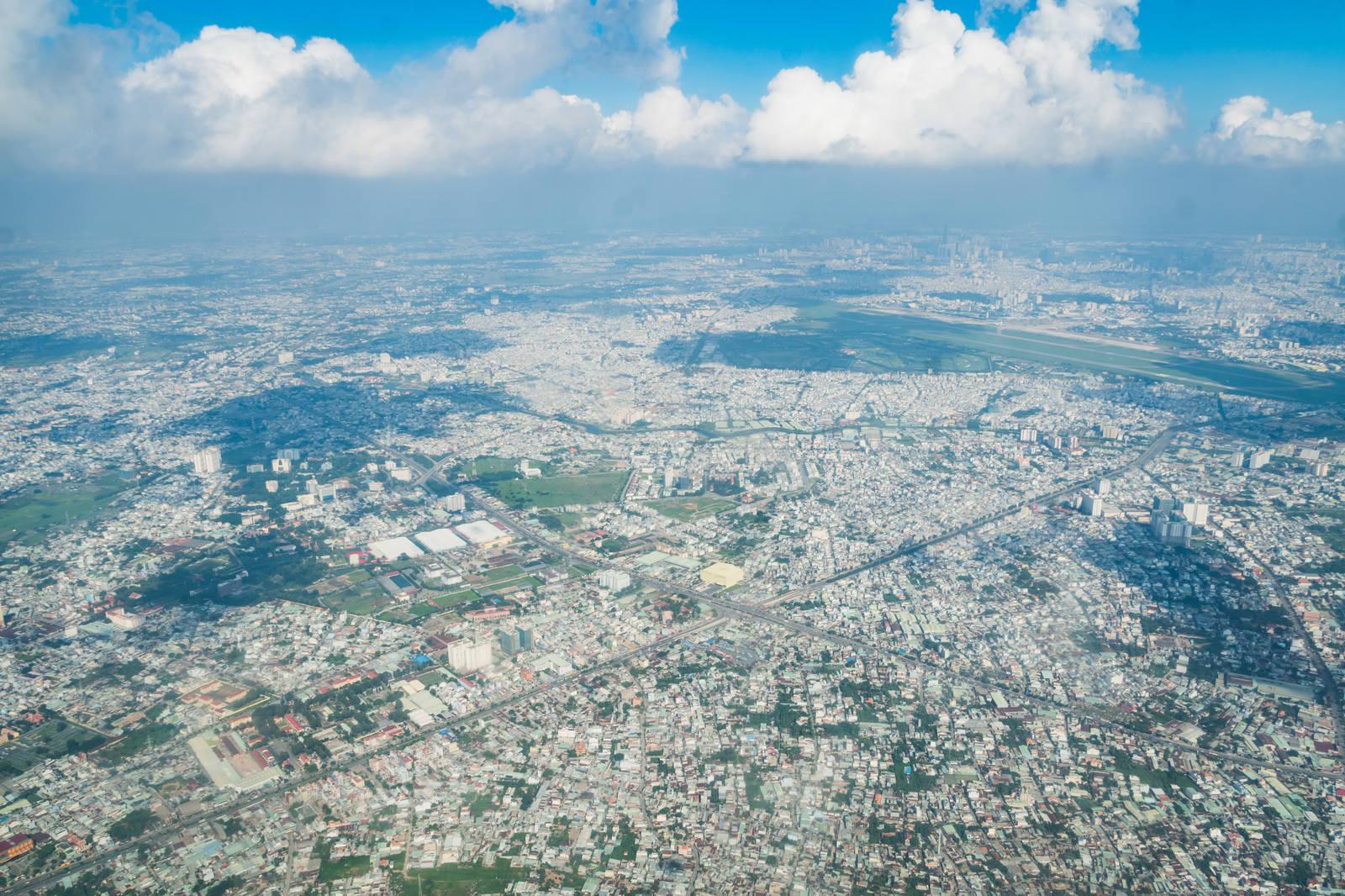 「ベトナムの街並み(上空から)」の写真