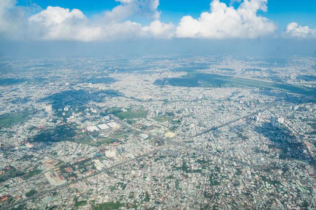 ベトナムの街並み(上空から)の写真