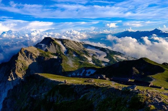 夕方の白馬連峰(白馬岳)の写真