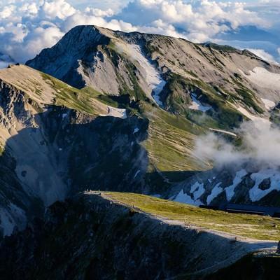 杓子岳と白馬槍ヶ岳の写真