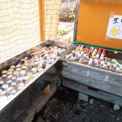 白馬尻小屋で販売中のドリンク(白馬岳)の写真