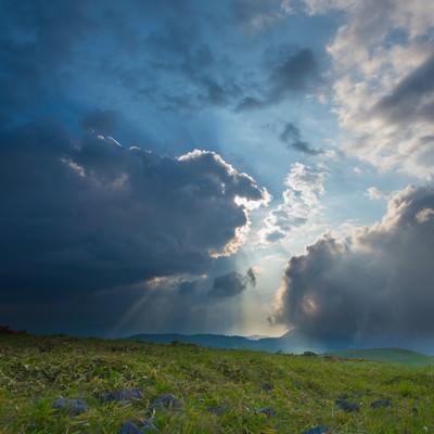 「蝶々深山の夕方」の写真素材