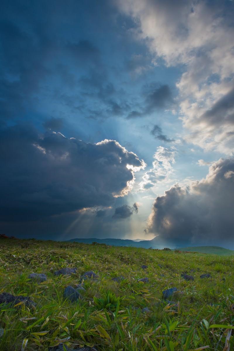 「蝶々深山の夕方」の写真