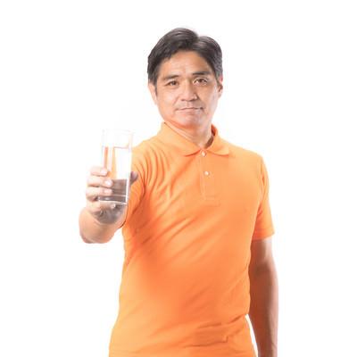「健康のために水を飲もう!」の写真素材