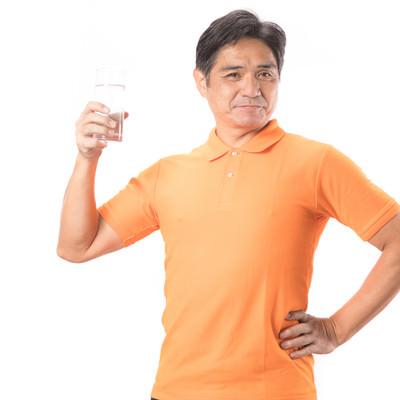 「水分補給で熱中症予防!」の写真素材