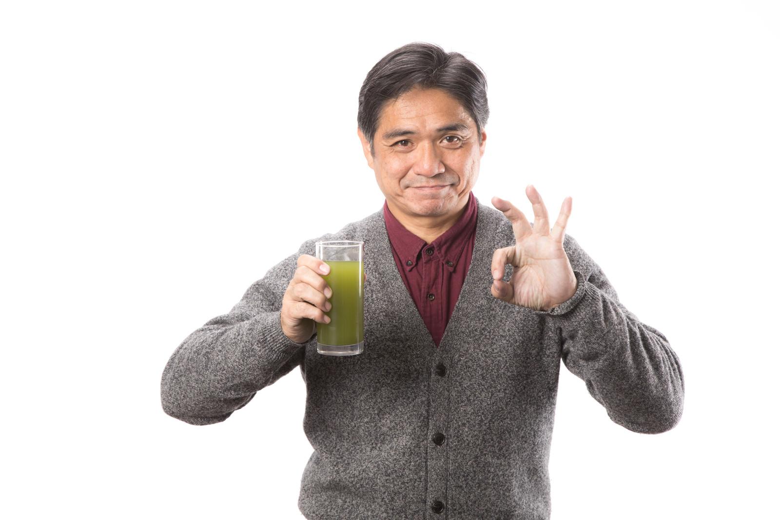「青汁GOOD」の写真[モデル:よたか]