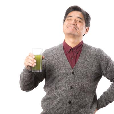「アッーーー!青汁がうまい」の写真素材