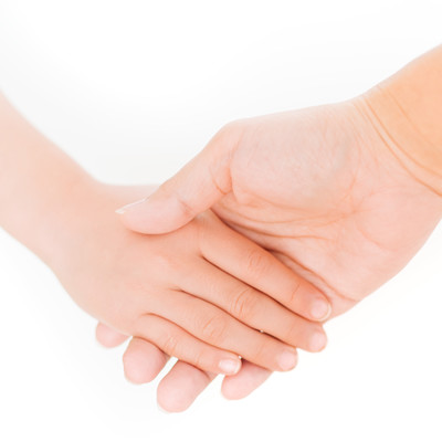 「親と子の手」の写真素材