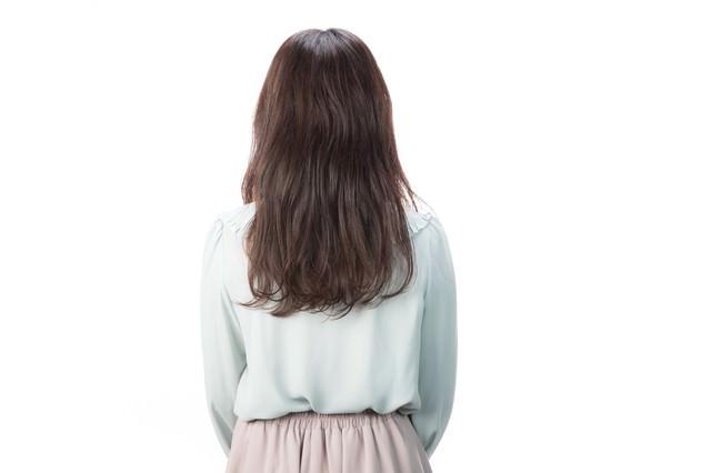 サロンモデル(後ろ姿)の写真