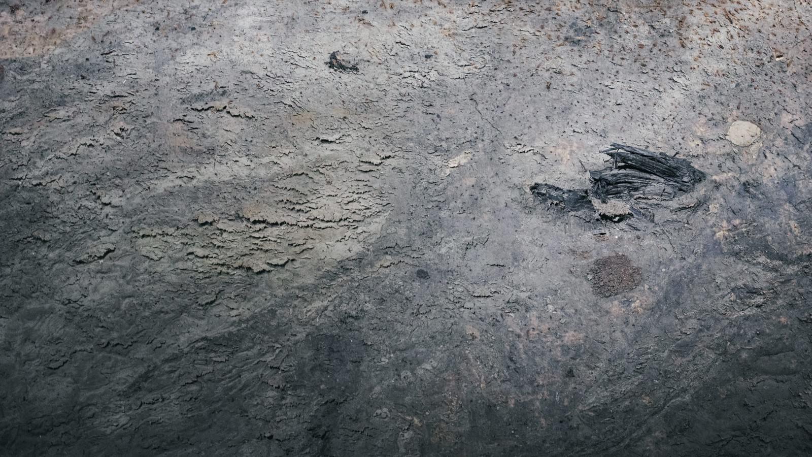 「汚れが凝固した壁(テクスチャ)」の写真