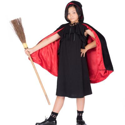 「なりきり魔女っ娘仮装(ハロウィン)」の写真素材