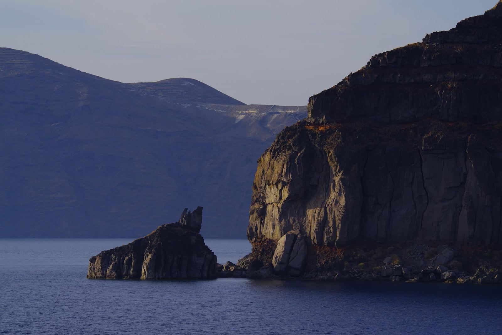 「カンガルーに見える切り立った崖(イタリア)」の写真