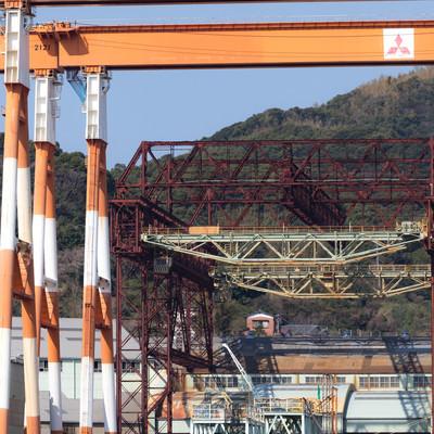 戦艦武蔵が建造されたクレーン(三菱重工業造船所跡)の写真