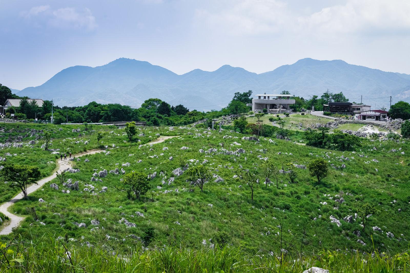 「若竹山山頂からの景色(山口県美祢市)」の写真