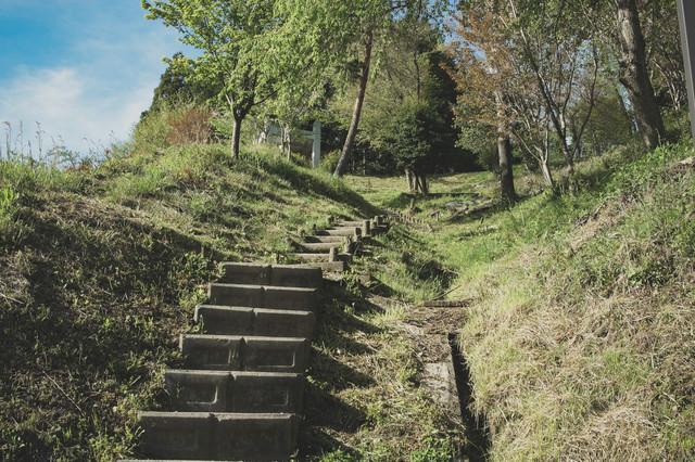 展望台への階段の写真