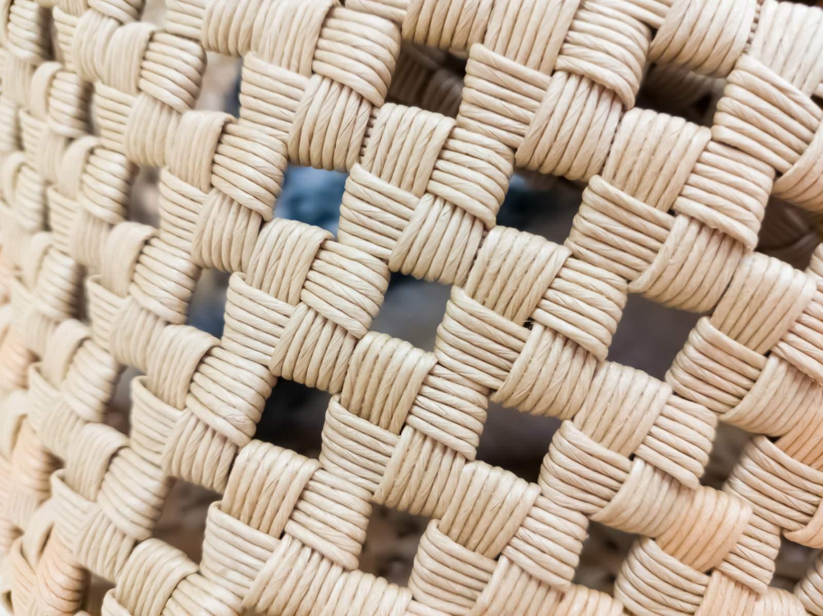 「編みかごのテクスチャ」の写真