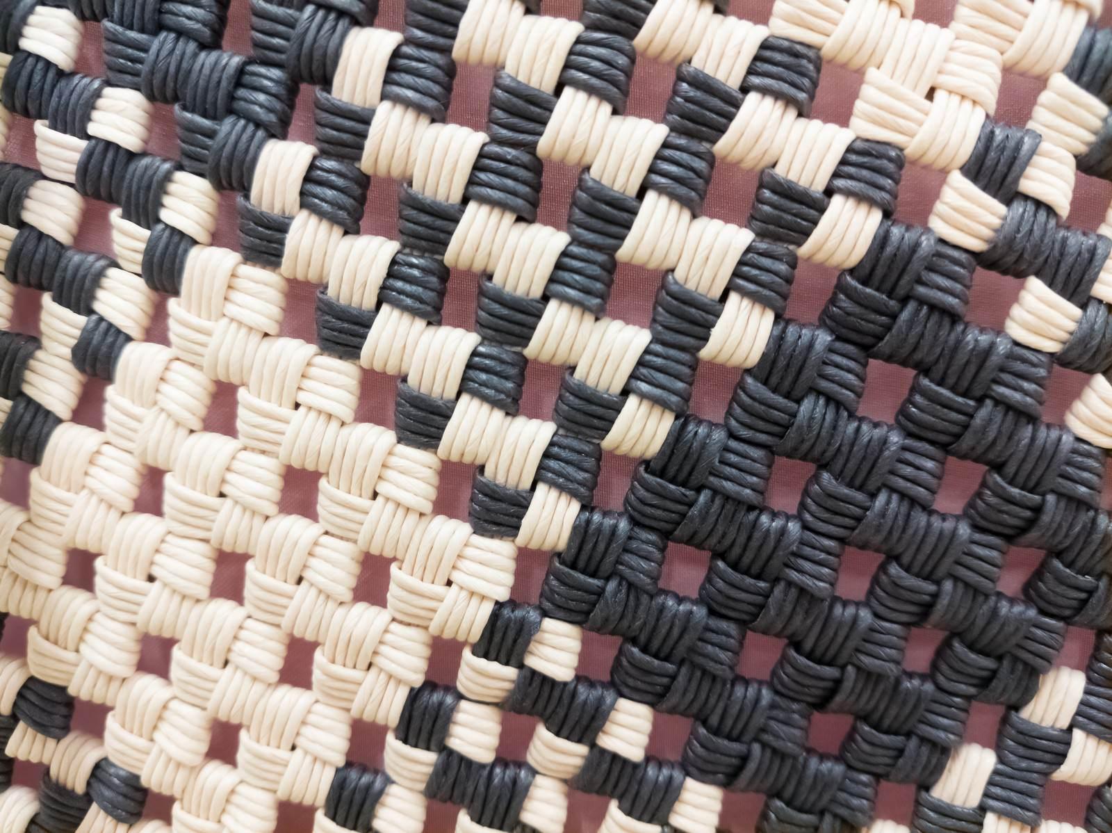 「手作りかご(テクスチャ)」の写真