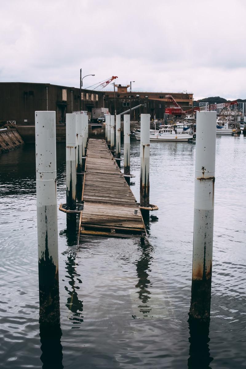 「壊れてしまった桟橋」の写真