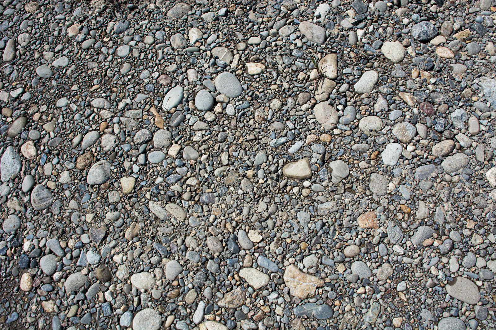 「無数の小石が埋まる(テクスチャ)」の写真